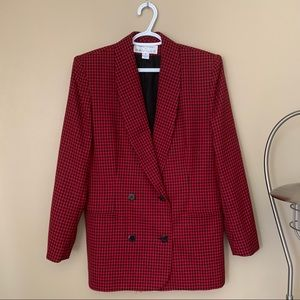 Vintage Oversized Wool Double-Breasted Blazer
